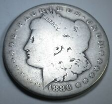 1886-O US Morgan Silver $1 Dollar Large Antique U.S. Old Currency Money Coin