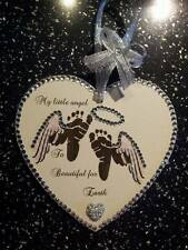 Wooden heart. My angel Too beautiful for earth baby loss miscarriage memory gift