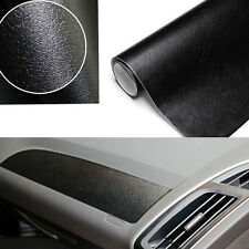 "Black 3D 60""x 39"" Leather Texture Decor Trim Interior Sheet Sticker Film Decal"