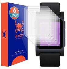 Skinomi Watch (MATTE) Screen Protectors (6-Pack) for Pebble 2 Smartwatch