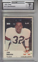 1961 Fleer Card #11 Jim Brown BROWNS GAI 7 NM Z20170 - GAI NrMt 7 - GAI NrMt (7)