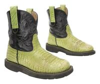 ARIAT FATBABY Cowboy Boots 6.5 B Womens EXOTIC Crocodile Print Leather Western