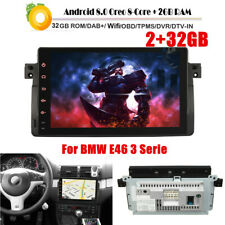 "9"" Android 8.0 8-CORE Car Stereo GPS Radio Sat Nav OBD WiFi 2+32GB For BMW E46"