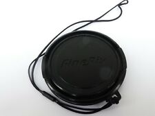 Used FinePix 49mm Lens Front Cap Black snap-on type plastic with strap