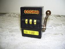 CASINO SLOT MACHINE LEVER PULLING ACTION MINIATURE