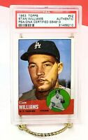 Stan Williams 1963 Topps  #42  Yankees/Dodgers PSA/DNA CERTIFIED AUTHENTIC