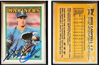 Mike Campbell Signed 1988 Topps #246 Card Seattle Mariners Auto Autograph