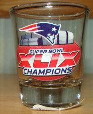 NFL New England Patriots 2015 Super Bowl 49 XLIX Champions 2oz Shot Glass Clear