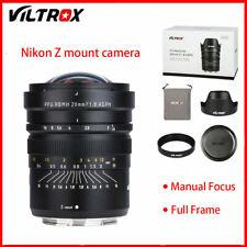 VILTROX  F1.8 Full Frame Manual Focus Lens Fit for Nikon Z6 Z7 Camera Accessory