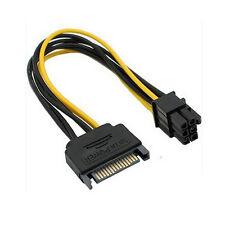 Top SATA Netzkabel 15 Pin-6 Pin PCI Express PCI-E Grafikkonverter Adapter