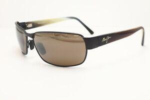 Maui Jim Black Coral MJ 249-19M Wrap Sunglasses Brown Polarized Lenses 65mm