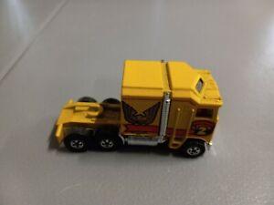 Rare Hot Wheels Vintage 1982 Thunder Roller Golden Eagle Semi Truck
