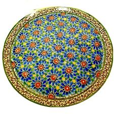 Antique Large Hand Painted Islamic Iznik Pottery Arabic Middle Eastern Plate