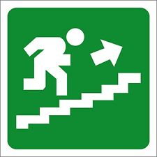 ADESIVO SEGNALETICA SCALE emergenza. STICKER Emergency exit stairs right