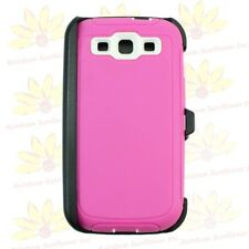 For Samsung Galaxy S3 Case Cover w/ (Belt Clip fits Otterbox Defender series).