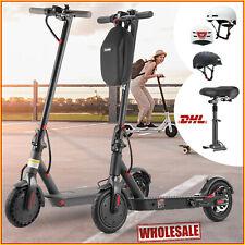 E-Scooter Elektroroller 30km/h, 350W Roller mit Sitz Helm Smart LED Fahrradhelm