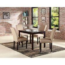 5 Piece Nailhead Upholstered Chairs Dining Room Set Home Kitchen Furniture