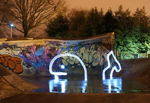 *There's A Whale - Light Graffiti Canvas Print - Ltd Ed of 25 -  Long Exposure*