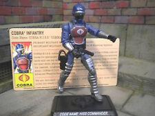 GI JOE~ 2008 COBRA H.I.S.S. TANK COMMANDER ~ 100% complete with file card