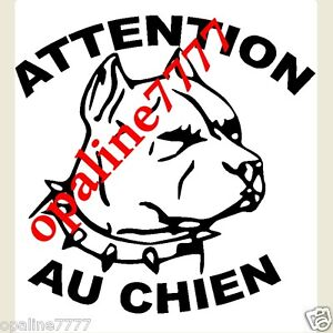Decal Sticker Attention At Dog post Box Rottweiler Bullterrier