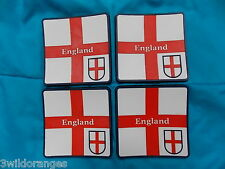England Coasters St George Flag Beer Mats x 4
