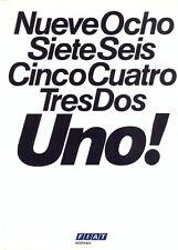 Fiat Uno Spanish market 1983 colour sales brochure