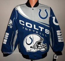 Indianapolis Colts Kick Off NFL Jacket Blue & Grey Size XXL Free Ship