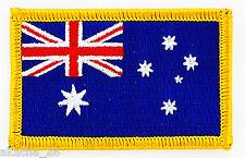 PATCH ECUSSON BRODE DRAPEAU AUSTRALIE  INSIGNE THERMOCOLLANT NEUF FLAG PATCHE