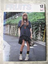 FRUITS MAGAZINE NO.137 12 2008 FASHION JROCK JAPAN EMO VISUAL KEI COSPLAY LOLITA