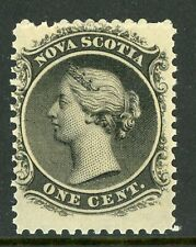 Canada 1860 Nova Scotia 1¢ Queen Victoria Yellow Paper Sc 8a MNH F184