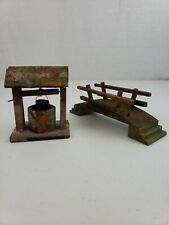 Vtg Transogram Well & Bridge For Manger Nativity, German Putz Erzgebrige Style