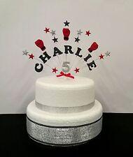 Boxing  personalised  name, age birthday / celebration  cake topper, decoration