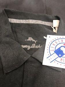 Baseball MLBUA, Umpire Assn Tommy Bahama Black Silk Shirt, Med-large-XL-XXL-XXX