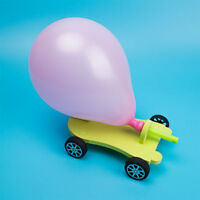 Funny DIY Balloon Reaction Car Science Experiment Toys Educational Toy Kids Gift