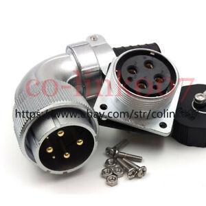 WS32 6pin Power Connector,Aviation Bulkhead Plug Socket LED Plug 90° Connector