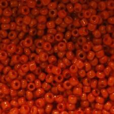 Perles de Rocaille 2mm couleur rouge brique opaque (x 20g)