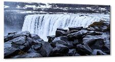 Leinwand Bild Leinwand Bild Island Landschaft Wasserfall Dettifoss Wasser Blau G