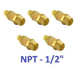 """Pneumatic Flow Control Silencer 1/2"""" NPT Air Exhaust Muffler Fitting 5 Pieces"""
