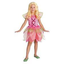 Garden Fairy Girl Dress Up Halloween Costume Wings Pink Size Medium 8-10 New