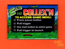 "Exidy Collexn multigame 2x3"" instructional magnet Combat theme"