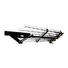 Retract-A-Rack Ceiling Rod Equipment Skis Tool Golf Storage Sports Garage BLACK