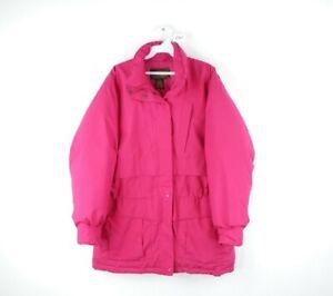 Vtg 90s Eddie Bauer Womens Large Gore-Tex Goose Down Winter Puffer Jacket Pink