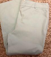 NWT Talbots Women Size 16 Cropped Capri  Ankle Straight Leg Mint Green Pants