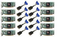 LOT of 10 Dell AMD Radeon 512MB HD5450 Video Card DMS59 Cable Low Profile SFF