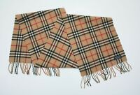 Authentic Burberry's Vintage Nova Check Wool Scarf Made In England