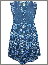 NEW Ladies WHITE STUFF Navy Printed Tunic Top or Dress in Size 8 - 12