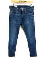 HOLLISTER Mens Jeans W30 L32 Blue Cotton Super Skinny