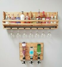Handmade unique floating wooden gin and tonic rack display unit - Christmas gift