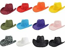 Women's Fashion Glitter Sequin Cowgirl Western Hat/ C834-1 - C843-1