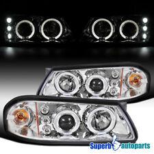 2000-2005 Chevy Impala Smoke Lens LED Strip Headlights+Slim 6-LED Fog Lamp